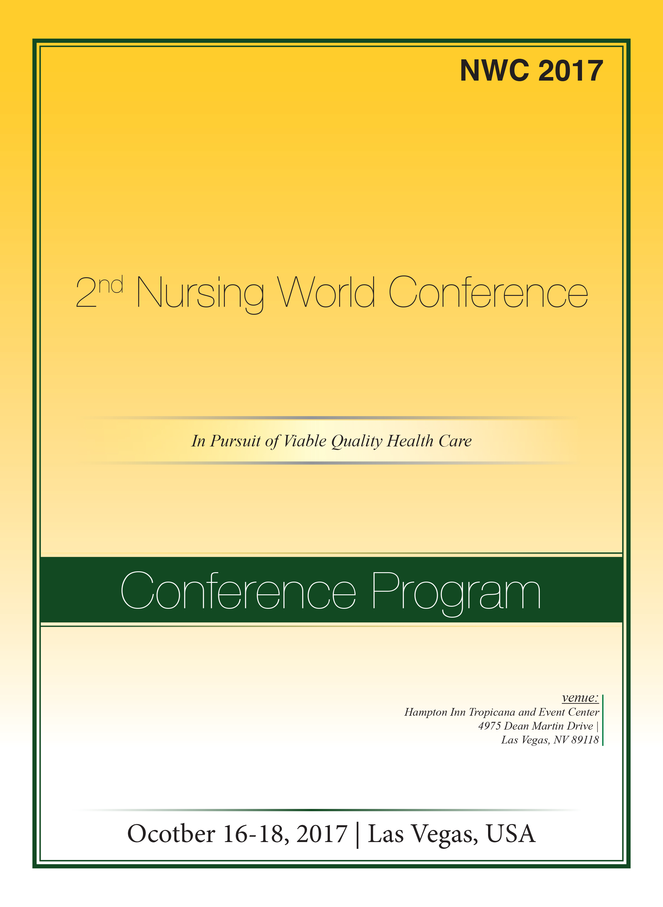 2nd Nursing World Conference | Las Vegas, USA Program